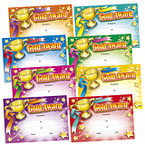 Gold Award Megamix Certificates (48 Certificates - A5) Brainwaves