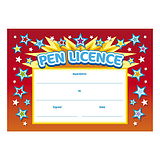 Pen Licence Certificates - Red (20 Certificates - A5) Brainwaves