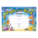 Pupil of the Week Certificates - Underwater (20 Certificates - A5)