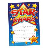 Star Award Certificates - Blue (20 Certificates - A5) Brainwaves