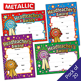 Headteacher's Award Certificates (20 Certificates - A5) Brainwaves