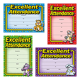 Metallic Excellent Attendance Certificates (20 Certificates - A5) Brainwaves
