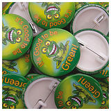 Good to be Green Button Badges (10 Badges - 37mm)