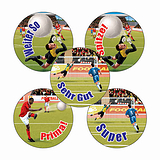 German Football Stickers (70 Stickers - 25mm)