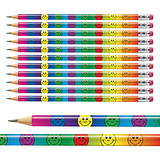 Smiley Face Pencils - Multicoloured (x12)