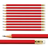 Red Hexagon Pencils Pack of 10