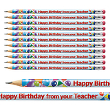 Happy Birthday from your Teacher Pencils (12 Pencils)