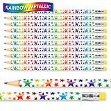 Rainbow Stars Metallic Pencils (Pack of 12)