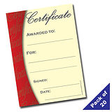 Certificates - Classic Style (20 Certificates - A5)
