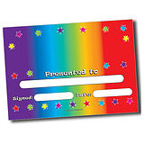 Customised Colour Spectrum Certificates - A5