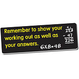 Remember to Show Your Working Out Stickers (56 Stickers - 46x16mm)