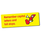 56 Remember Capitals & Full Stops 46mm x 16mm Stickers