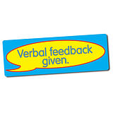 Verbal Feedback Given Stickers (56 Stickers - 46x16mm)