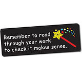 Remember to Read Through Your Work Stickers (56 Stickers - 46x16mm)