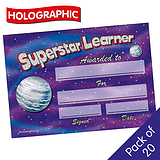 Holographic Superstar Learner Certificates (20 Certificates - A5)