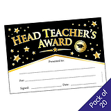 Head Teacher's Award Certificates (20 Certificates - A5)