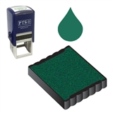 Ink Pad Refill for Stampers - Green Ink (25mm x 25mm)