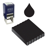 Ink Pad Refill for Stampers - Black Ink (25mm x 25mm)
