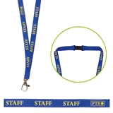 Staff Lanyard - Blue with Yellow Text