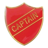 Captain Enamel Badge - Red (30mm x 26.4mm)