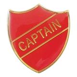 Captain Enamel Badge - Red (30mm x 26.4mm)
