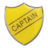Captain Enamel Badge - Yellow (30mm x 26.4mm)
