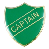 Captain Enamel Badge - Green (30mm x 26.4mm)