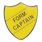 Form Captain Enamel Badge - Yellow (30mm x 26.4mm)