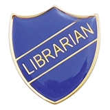 Librarian Enamel Badge - Blue (30mm x 26.4mm)