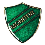 Monitor Enamel Badge - Green (30mm x 26.4mm)