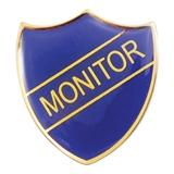 Monitor Enamel Badge - Blue (30mm x 26.4mm)