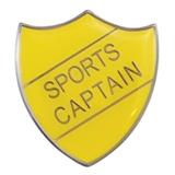 Sports Captain Enamel Badge - Yellow (30mm x 26.4mm)