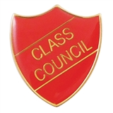 Class Council Enamel Badge - Red (30mm x 26.4mm)