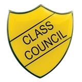 Class Council Enamel Badge - Yellow (30mm x 26.4mm)