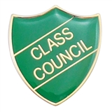 Class Council Enamel Badge - Green (30mm x 26.4mm)