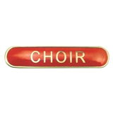 Choir Enamel Badge - Red (45mm x 9mm)