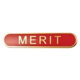 Merit Enamel Badge - Red (45mm x 9mm)