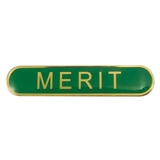 Merit Enamel Badge - Green (45mm x 9mm)