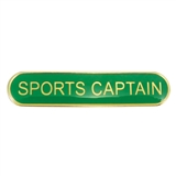 Sports Captain Enamel Badge - Green (45mm x 9mm)