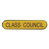 Class Council Enamel Badge - Yellow (45mm x 9mm)