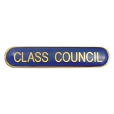 Class Council Enamel Badge - Blue (45mm x 9mm)