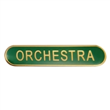 Orchestra Enamel Badge - Green (45mm x 9mm)