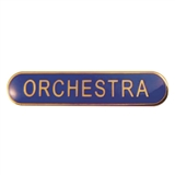 Orchestra Enamel Badge - Blue (45mm x 9mm)