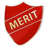 Merit Shield Badge - Enamel (Red)