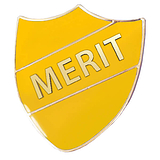 Merit Shield Badge - Enamel (Yellow)
