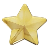 Gold 3D Star Badge - Gold Metal