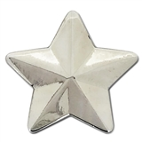Silver 3D Star Badge - Silver Metal