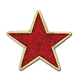 Glitter Star Badge - Red