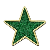 Glitter Star Badge - Green