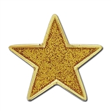 Glitter Star Badge - Yellow